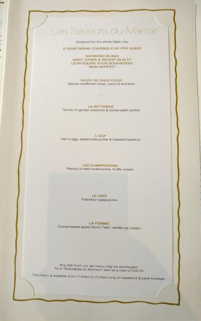Tasting menu veg